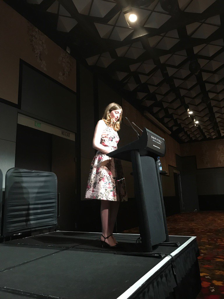 Young Voltaire winner Georgie Stone speaks at #Voltaire 2017 <br>http://pic.twitter.com/6g6pUC6ZHs