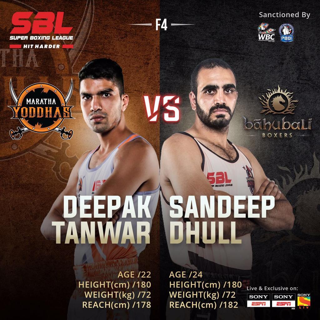 Who do you think has it in him to bring their team a win? #DeepakTanwar or #SandeepDhull 🥊 #SBLMarathaVSBahubali #HitHarder #SBL