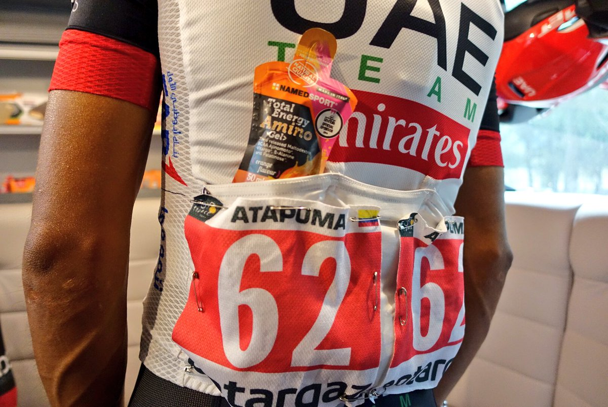 "@UAE-TeamEmirates on Twitter: ""#TDF2017 Look the red number bib on @elpumaDarwin 's back with his @NamedSport power."