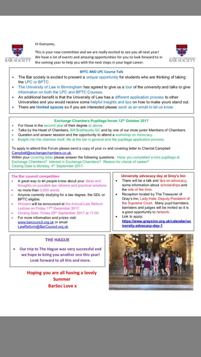 Uon bar society on twitter heres the first newsletter from the uon bar society on twitter heres the first newsletter from the new committee of some of the exciting events we have planned madrichimfo Images