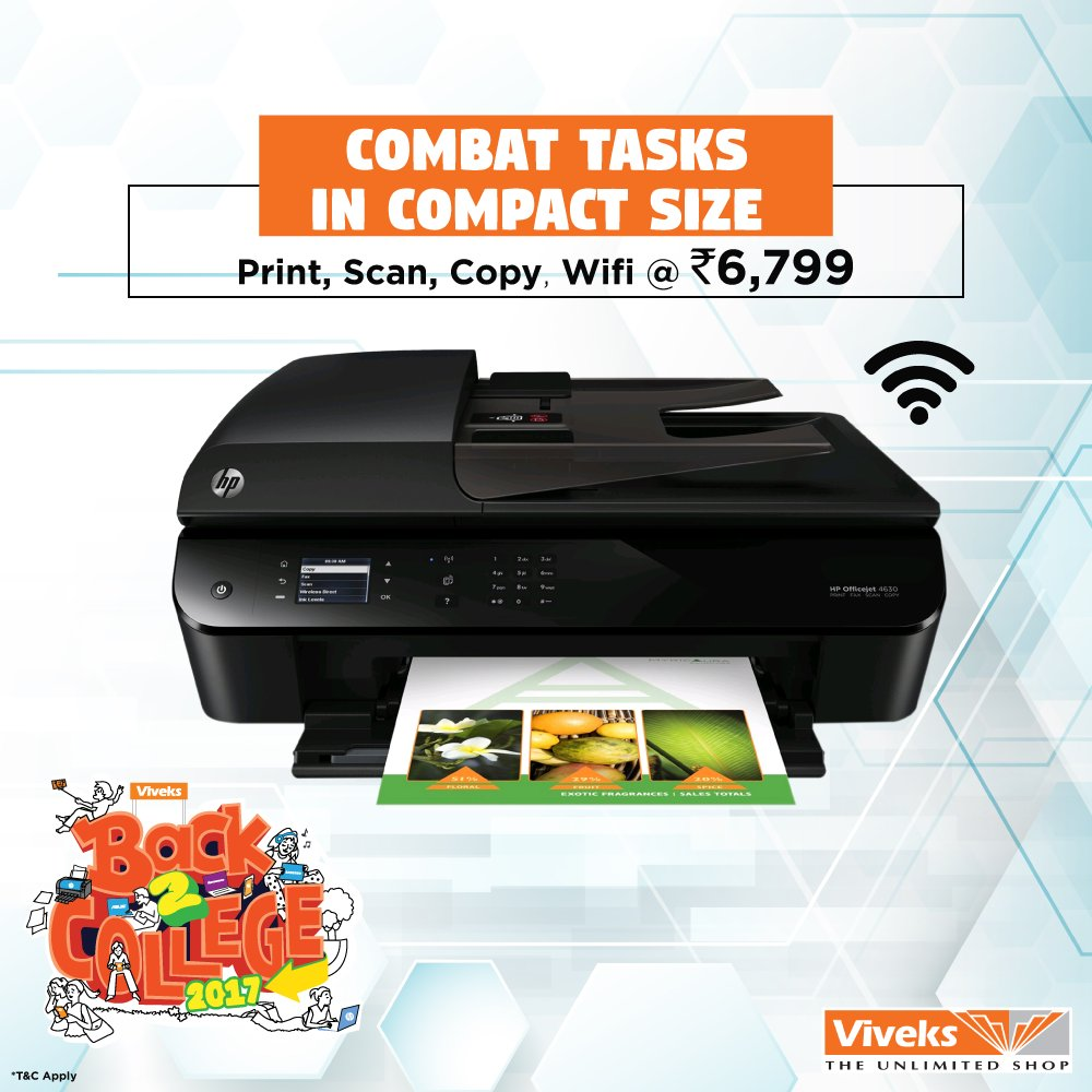 When you get #BackToCollege you need small things that can do big tasks like this printer from Viveks store at just Rs. 6799. <br>http://pic.twitter.com/oM8I3zs8Ls