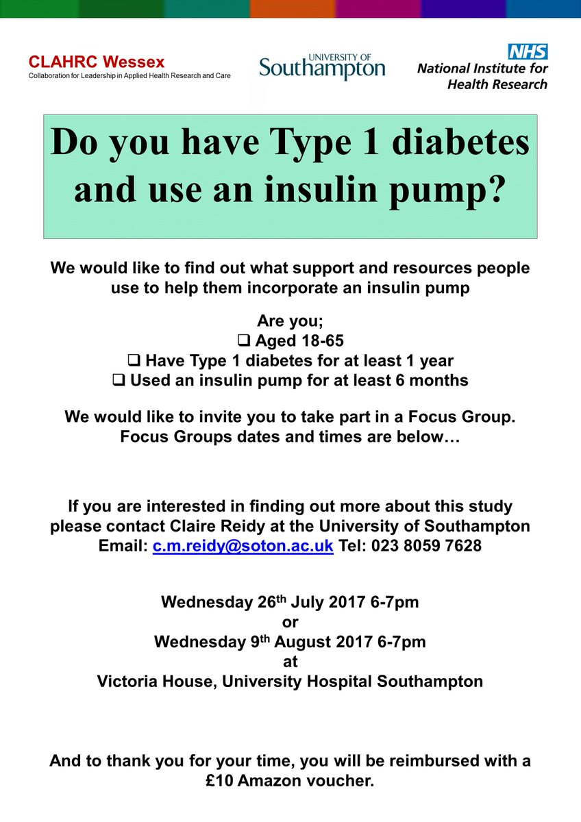 #insulinpump users in #Southampton wanted for #research. Your feedback is vital and valued! #diabetes #pwd #type1diabetes #CSII Please share<br>http://pic.twitter.com/u84WuFfdsv