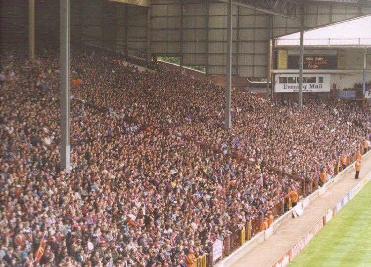 The Away Fans On Twitter Aston Villa S Holte End In The 1980 S Avfc
