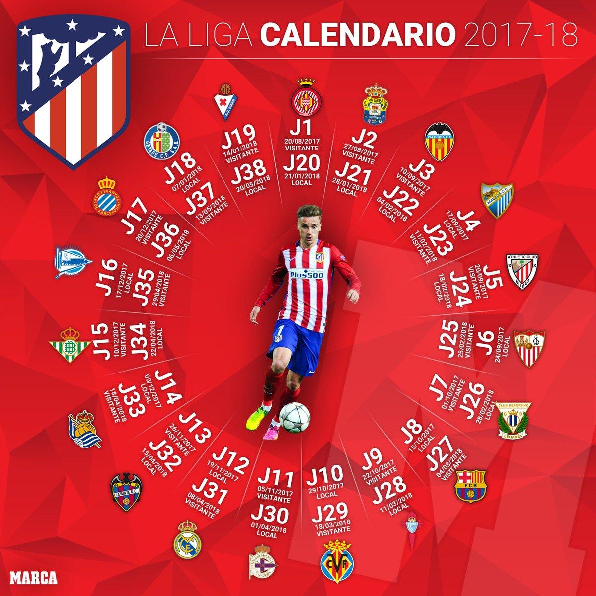 Calendario Atletico Madrid.Marca On Twitter Asi Sera El Calendario De Laliga De