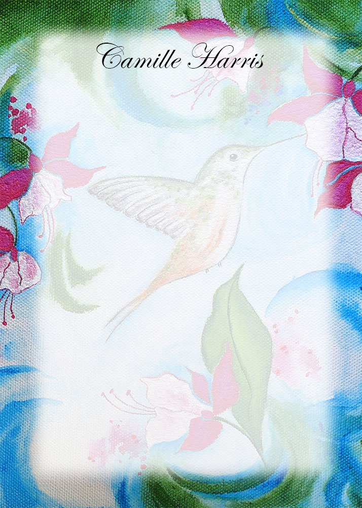 Working on new &quot;fade out&quot; #stationery #designs from my favorite #hummingbird #painting .  Amazing how many things you can do with one image.<br>http://pic.twitter.com/KW8KTwO1va