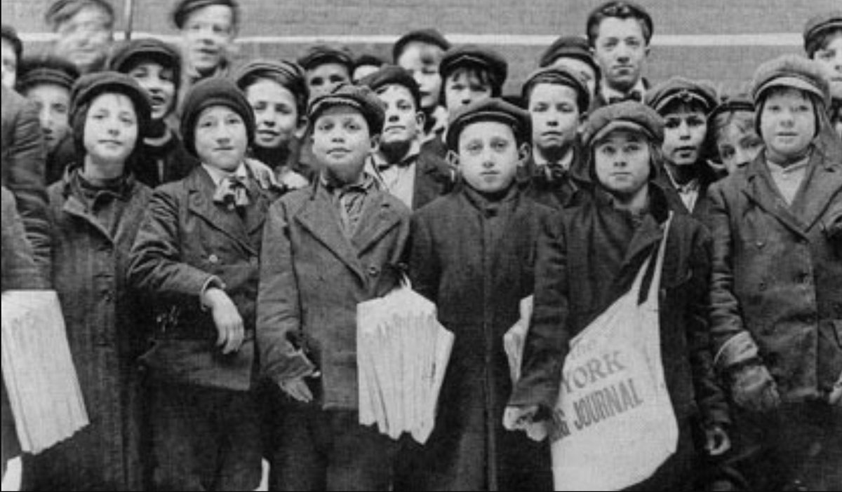 Newsboy Strike starts OTD 1899. Destitute youth selling papers to live  battle heartless newspaper magnates #newsies ...