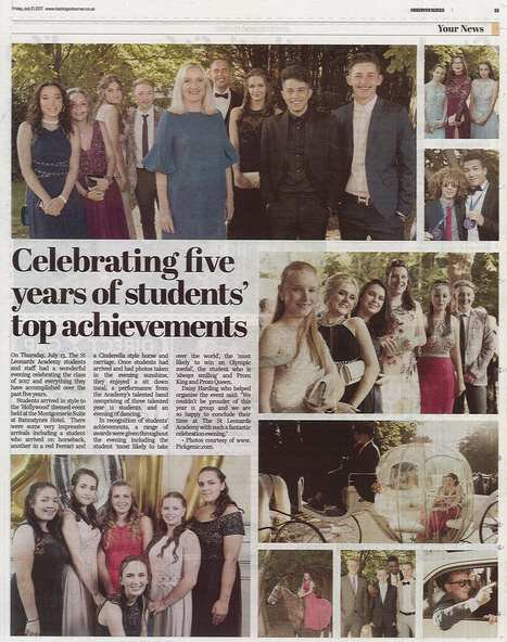 Lovely article in the @HastingsObs  of  Year 11 students at their prom last week at Bannatynes Hotel. #prom #pride2017<br>http://pic.twitter.com/gox5ze88Ou