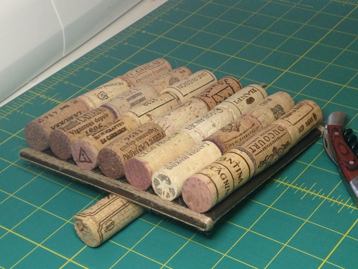 Now I have ANOTHER reason to #drink #wine! New hot plate made with #recycled #corks #handmade by OOD  http://www. only1design.com  &nbsp;   #hospitality<br>http://pic.twitter.com/b60JMMfzJE