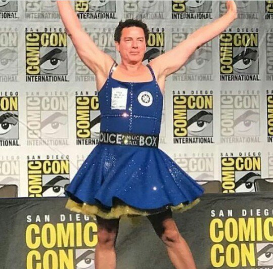 Image result for john barrowman tutu dress