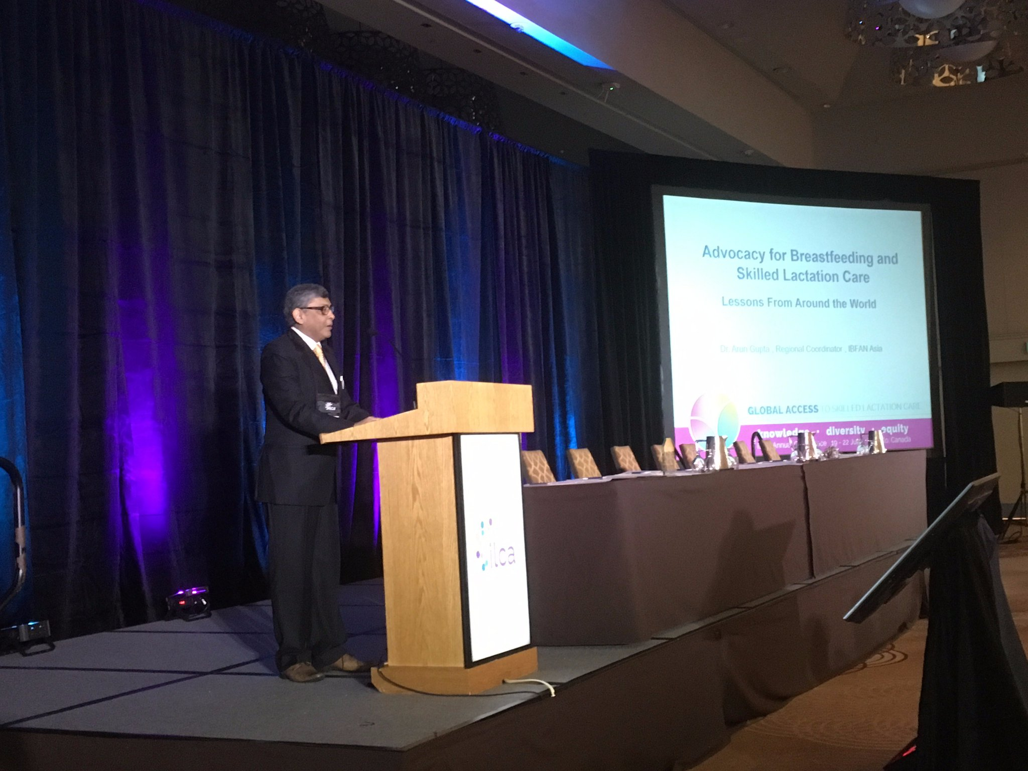 Dr Arun Gupta @Moveribfan on Advocacy for Breastfeeding and Skilled Lactation Care: Lessons from around the World at #ILCA17. https://t.co/4NAPxLC0rO