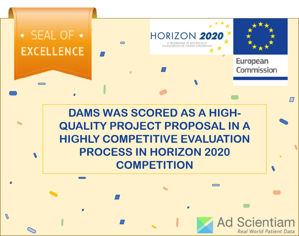 DAMS (Digital self-Assessment of Multiple Sclerosis) awarded the Seal of Excellence ! @EU_Commission #Horizon2020 <br>http://pic.twitter.com/FYKByexPkV