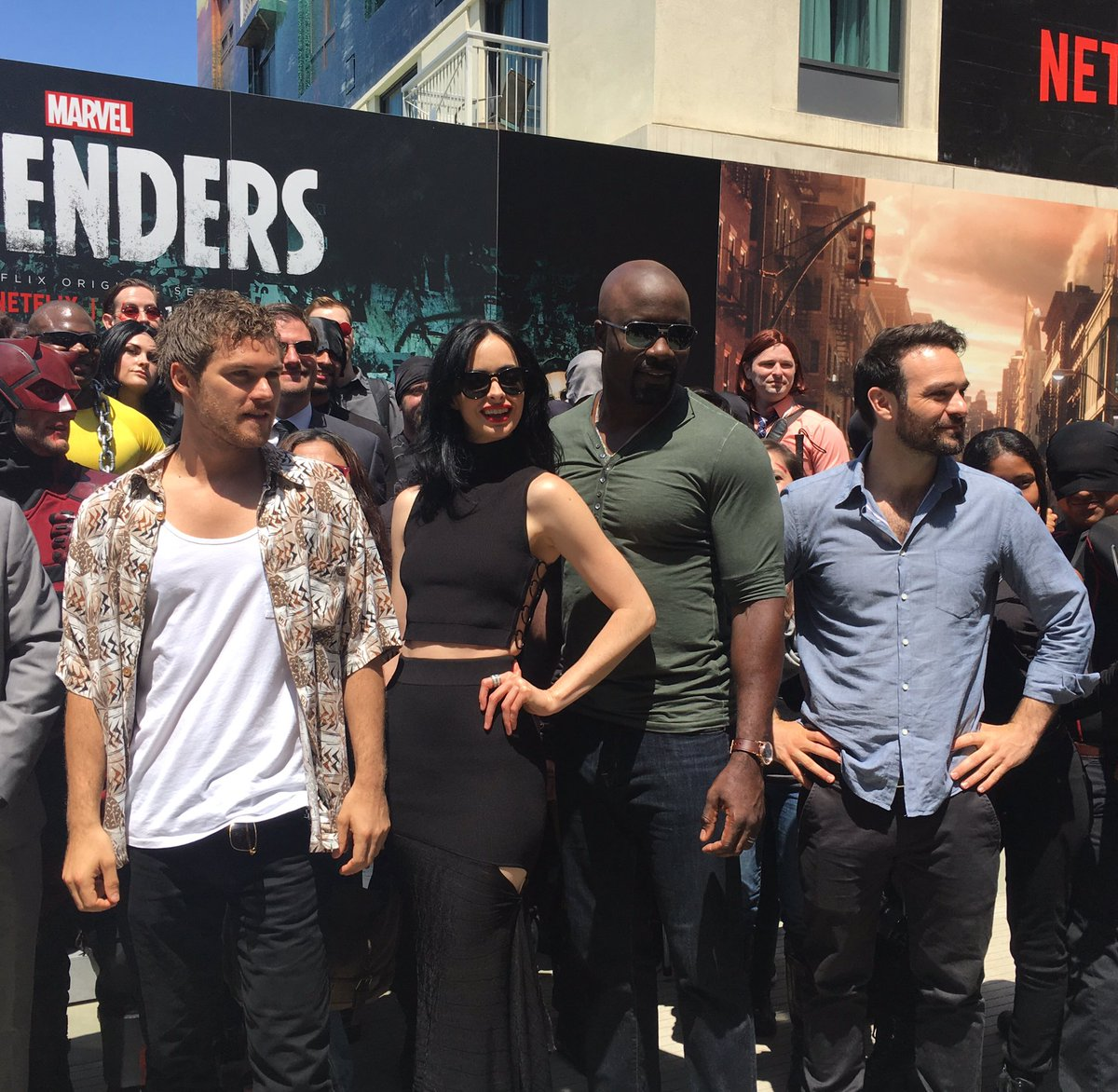 Surprise visit from the cast of The Defenders!