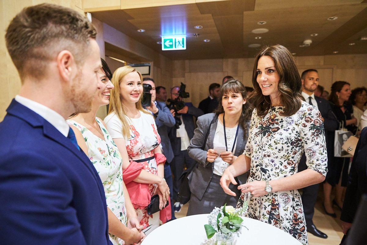 Very pleased to meet HRH Duchess of Camb...