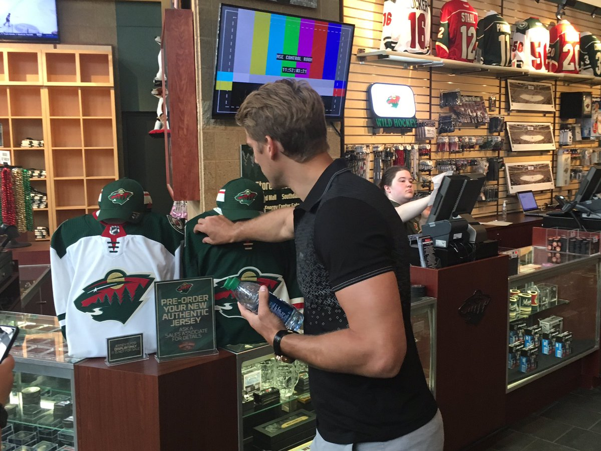 'These are sweet!' — Marcus Foligno Preorder your new #mnwild sweater at @SOH_Store → ow.ly/zOt730dOLTe