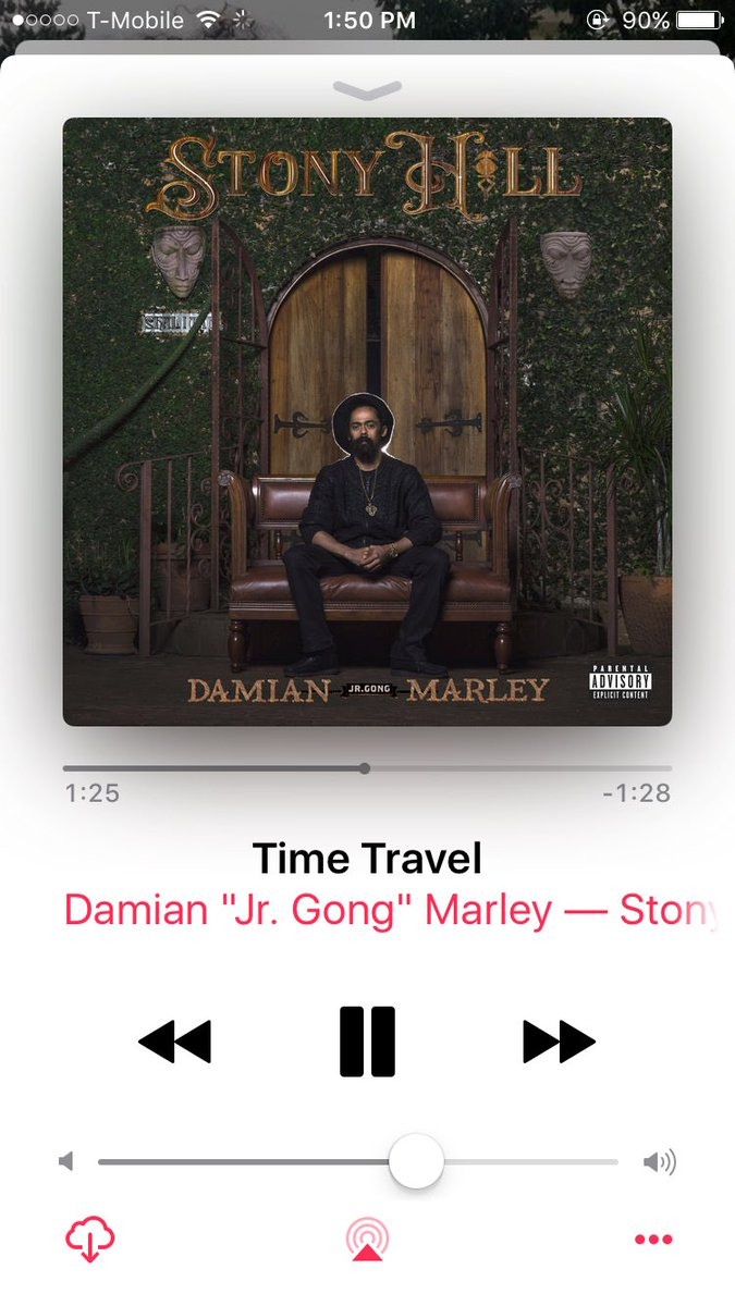 The king has returned. Can't even pick a fav song but Time Travel is on repeat for now #StonyHill #DamianMarley #JrGong ��🖤💛💚