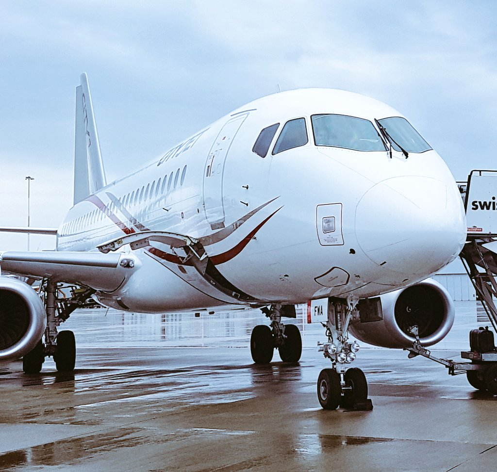 Could be wrong but think this might be the first Sukhoi Superjet 100-95 seen @LPL_Airport. Lovely aircraft. #avgeek #aviation #spotter <br>http://pic.twitter.com/LZnfkv7jDz