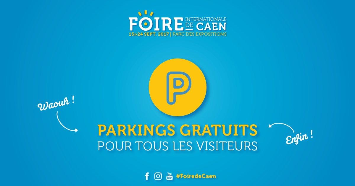 #FoiredeCaen En 2017, les parkings seront gratuits pour tous les visiteurs. https://t.co/1tqzNirslN