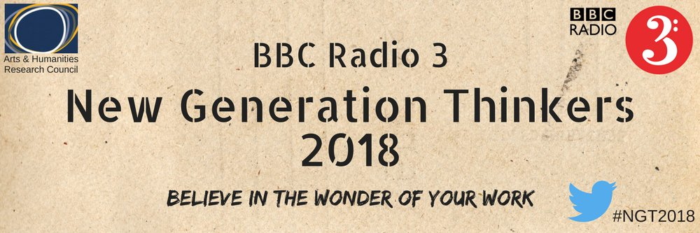 The @ahrcpress &amp; @BBCRadio3 are looking for #researchers to apply for 2018 New Generation Thinkers scheme  http://www. ahrc.ac.uk/newsevents/new s/new-generation-thinkers-2018-all-research-backgrounds/ &nbsp; … <br>http://pic.twitter.com/qxXcHTYHdG