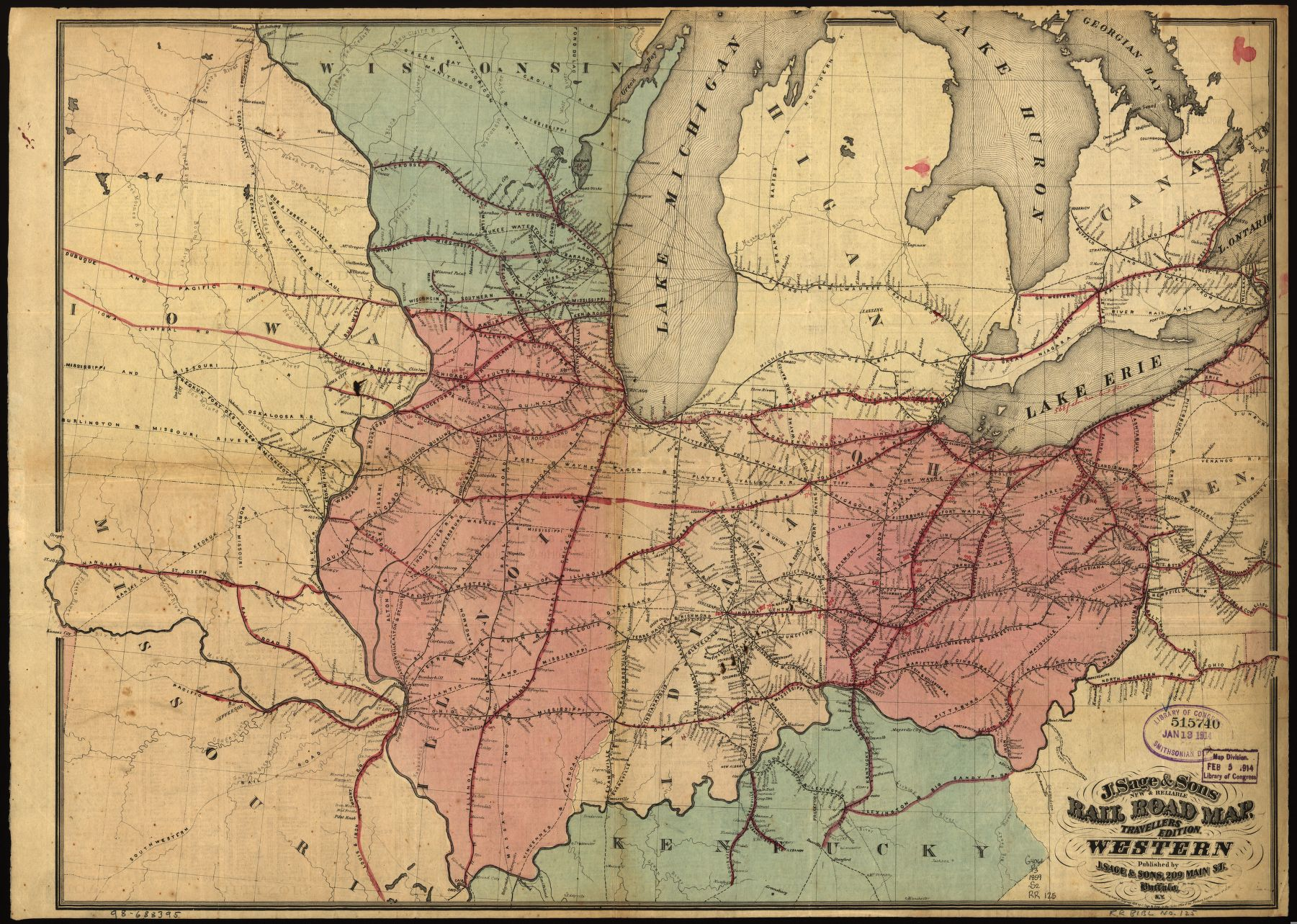 Are you a #railfan? Check out our  ~630 railroad maps from 1828 to 1900 that are digitized and available online! 🚂  https://t.co/XtNKnuP0Rn https://t.co/QmLHIV2YBb