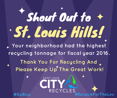 #FactFriday @stlhills recycled 313 TONS last year &amp; @TowerGroveSouth was 2nd! Up yr area&#39;s stats &amp; #recycle more today! #ThankYou #STL<br>http://pic.twitter.com/xfgir0PWgi