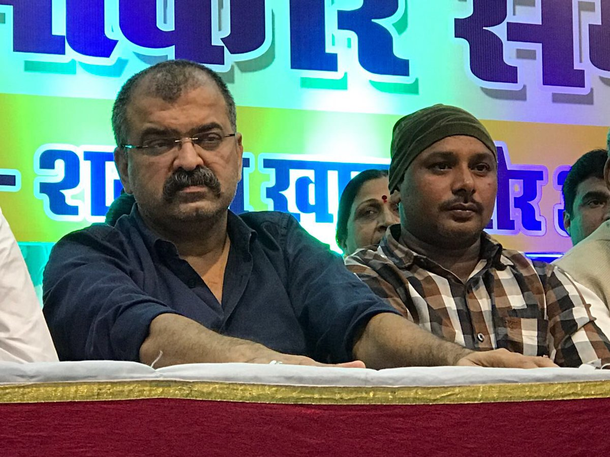 Sharing dias with #Salim who saved #Amarnath pilgrims.He is being felicitated in #Mumbra <br>http://pic.twitter.com/VEErin0Cgx