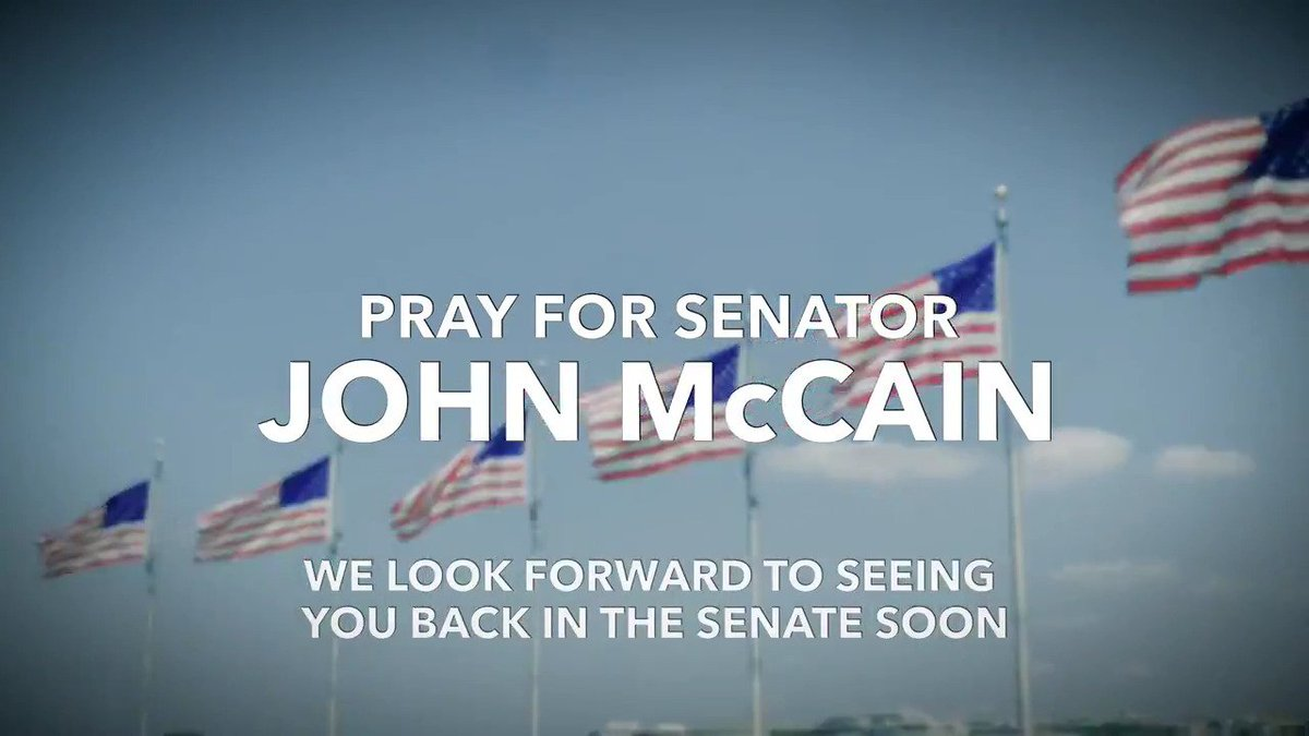 .@SenJohnMcCain: Friend, mentor, beloved father, hero, and fighter. We're all praying for you Sen. McCain. https://t.co/uonk789TDs