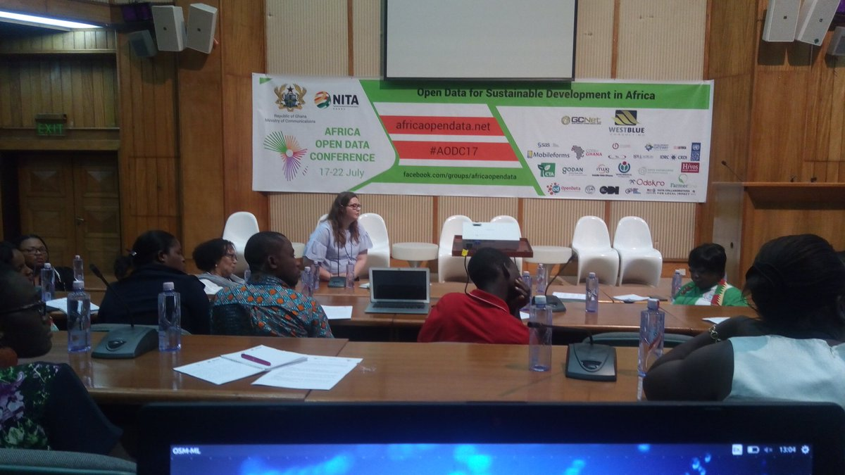 Great talks on #Gender &amp; #OpenData at #AODC17 with @nnenna  @africaodc @A2K4D @achiengakena @DaTa_TICS #ICT #OpenStreetMap<br>http://pic.twitter.com/WyfOoKmzJK