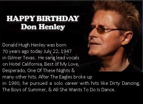 "Happy 70th birthday, Don Henley!  c\"",)"