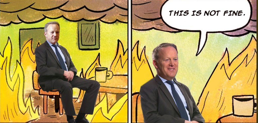 Really, though, congratulations to Sean Spicer for finally figuring this out: