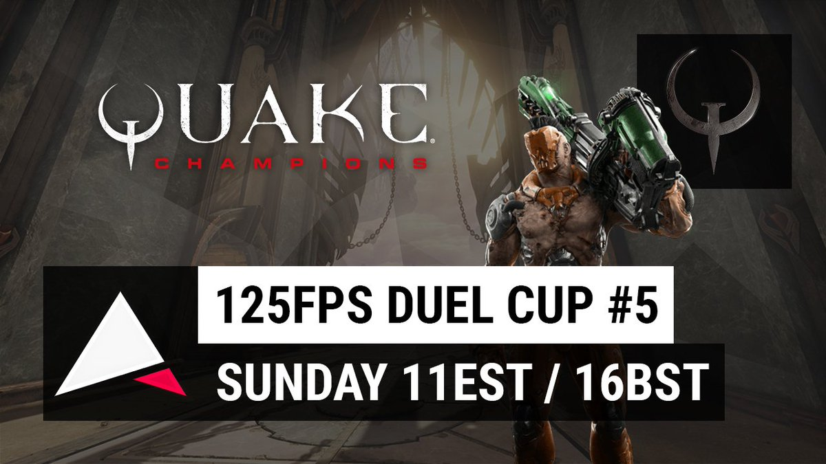 The @125fps #QuakeChampions Duel Cup returns this Sunday for it's 5th edition (87)! Join my @Twitch event:  https://www. twitch.tv/events/71692     #Esportspic.twitter.com/ean7ki253k