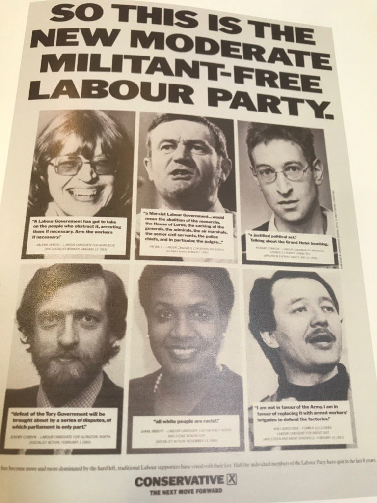 Jeremy Corbyn & Diane Abbott were first a target of Conservative election posters as long ago as 1987 https://t.co/Z0D5BKOUDp