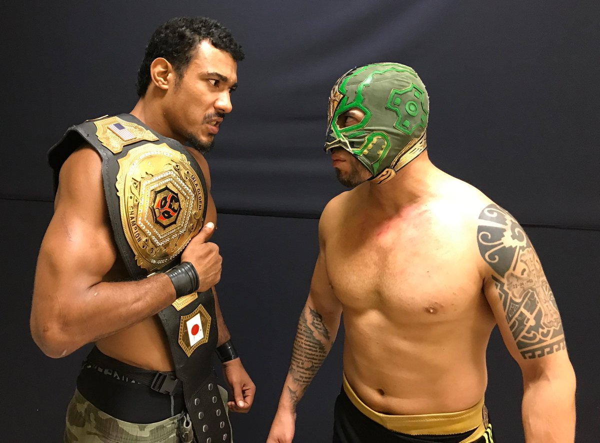 Confirmed! AR Fox defends the MLA Global championship against @DragonAztecaJr at #MLA13 #BadIntentions! #MLAWorldwide <br>http://pic.twitter.com/vfLrJ3NEPh