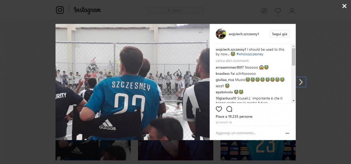 "Szczesny ironizza sulla maglia col nome sbagliato: ""Ora dovrei abituarmi a questa"" - https://t.co/U0owsgzs0j #blogsicilianotizie #todaysport"