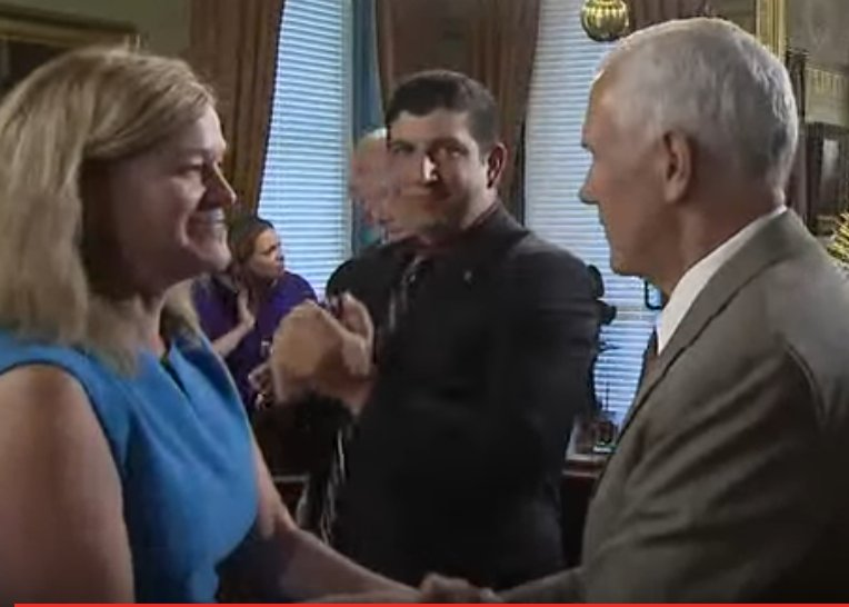 The @March_for_Life's @jeannemfl takes part in round-table discussion with @VP to discuss #HealthcareBill. https://t.co/Zh0gVzZO51