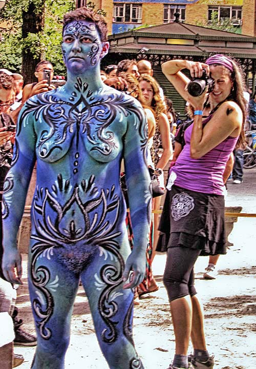 NYC Bodypainting Day blends nudity, jitters: If Im green