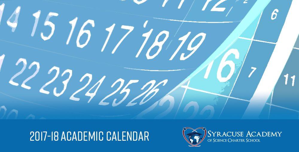 Syracuse Calendar.Syracuse Academy On Twitter 2017 18 Academic Calendar Sasatoms