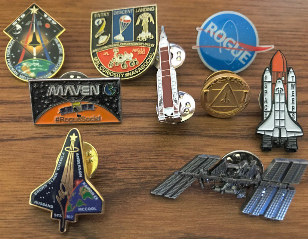 Part of my home office decor. #Space #LapelPins #NASA #Rogue<br>http://pic.twitter.com/tPU0sqYZHl