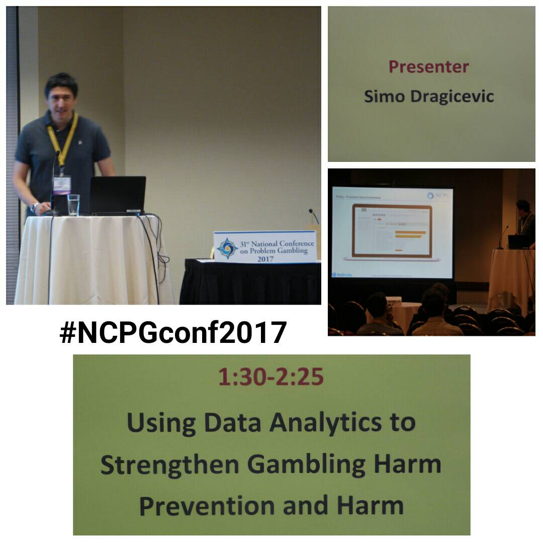 Sima Dragicevic gave a wonderful presentation on using data analytics! #NCPGconf2017 #problemgambling #responsiblegambling<br>http://pic.twitter.com/iv5FPaiCOw