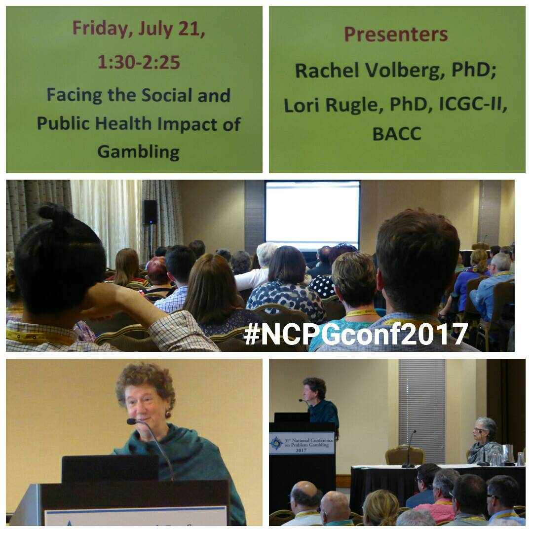 Rachel Volberg &amp; Lori Rugle gave an interesting presentation on the impact of gambling #NCPGconf2017 #problemgambling #responsiblegambling<br>http://pic.twitter.com/Qc0LKbaiSS