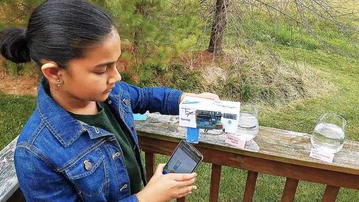 Impressive! 11-year-old #innovator invents inexpensive test kit for lead in drinking water:  http:// ow.ly/fYn130dC4eM  &nbsp;   via @FastCompany #socinn <br>http://pic.twitter.com/nnvtGlLXxm