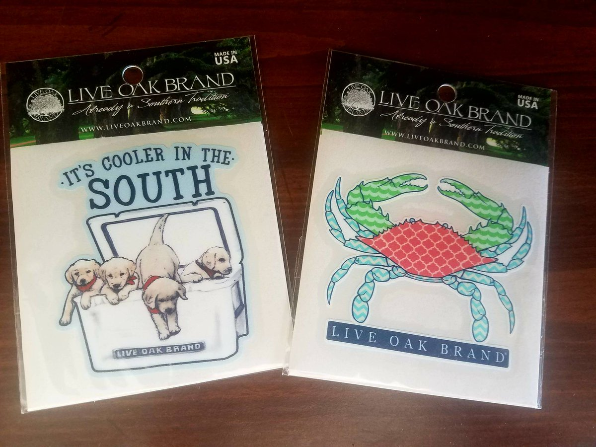 Live Oak decals! Only $6 We love our Live Oak Brand!  #PeachBoutique #boutique #RediscoverYourDowntown #downtownGoldsboro #LiveOak #decals<br>http://pic.twitter.com/6pv2xuu0sw