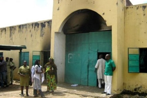 Fire fighters and officials of Kuje Prison are having a hard time putting out a raging fire as the prison is reported to be on fire.