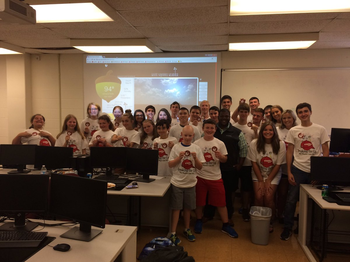 #WKU Weather Campers and future White Squirrel Weather Meteorologists! The future is bright!