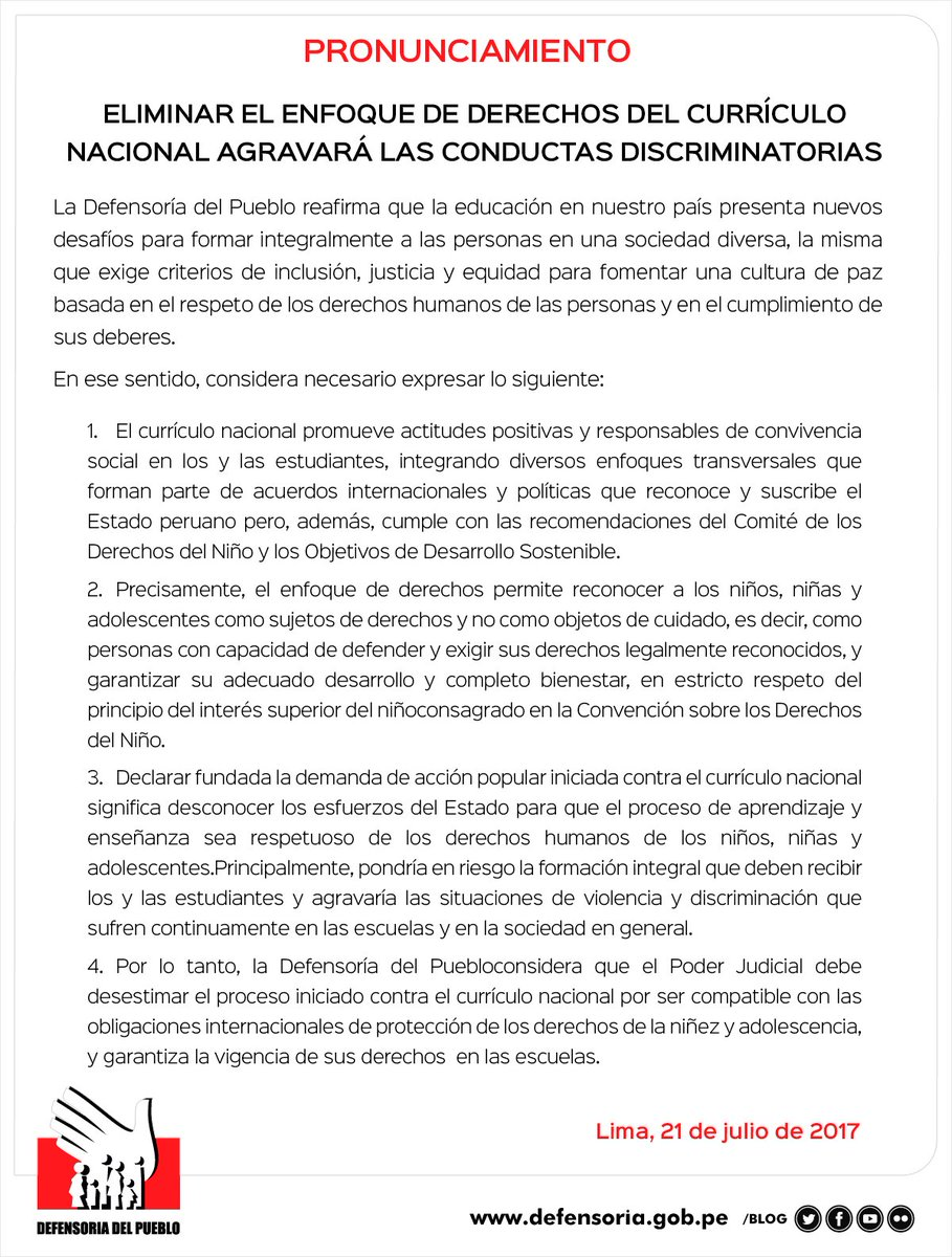 Defensoría Perú on Twitter: \