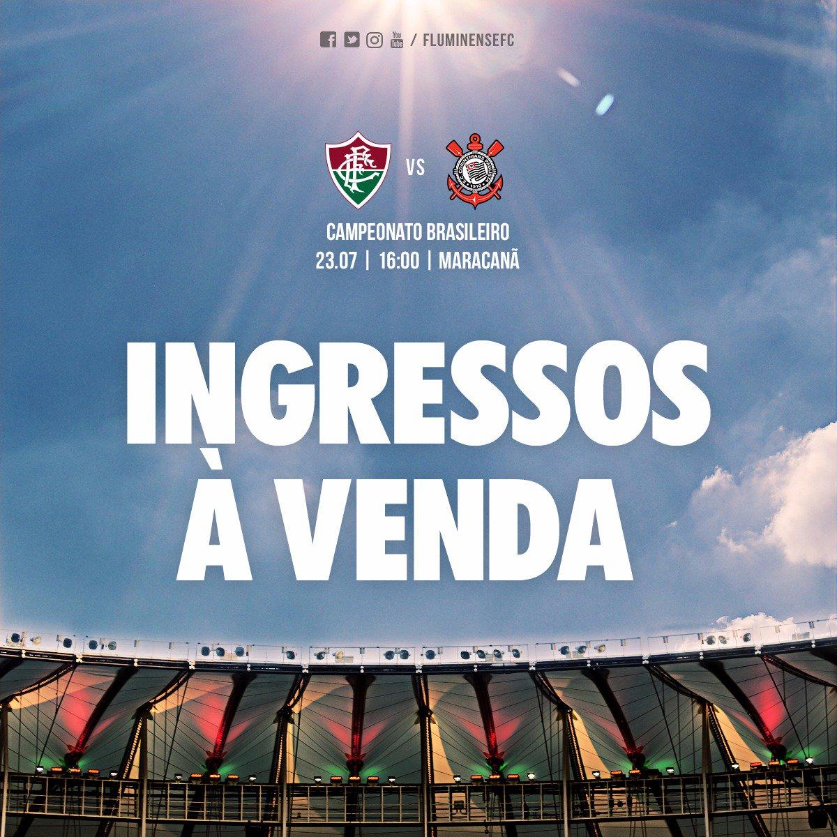 Domingo é dia de lotar o Maracanã. Tem Fluzão, estreia da nova armadura tricolor e promoção de ingresso. Partiu! >> https://t.co/vPGDdVkjll