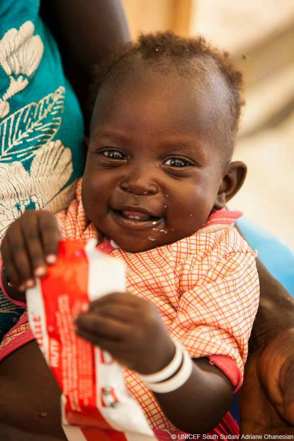 We're working tirelessly to help children like this little one recover from malnutrition in #SouthSudan. #FightingFamine