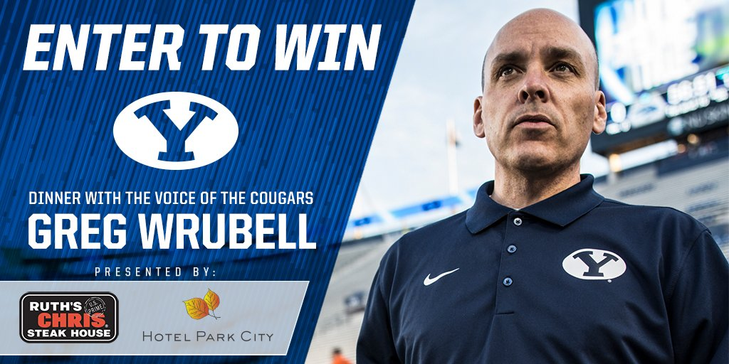Still taking retweet entries for a @BYUfootball dinner with me at @RuthsChris in @Hotel_Park_City. 3 winners picked on Aug. 1; dinner Aug. 8