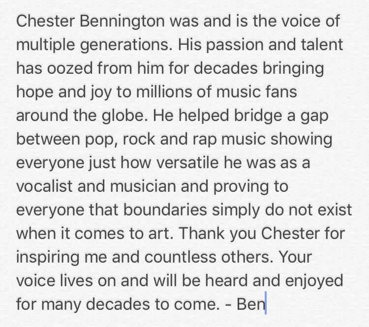 #RIPChester https://t.co/RpEhh3Aq46