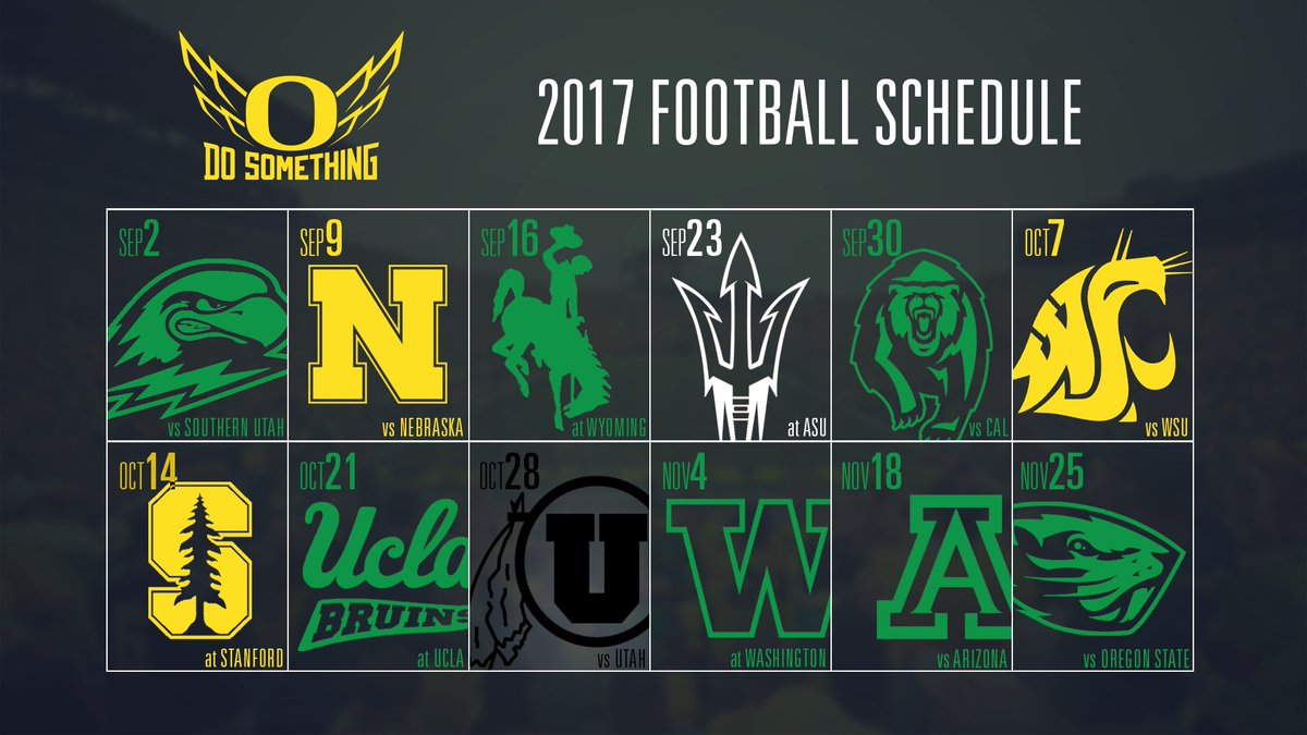"""oregon football on twitter: """"check out the 2017 what to wear color"""