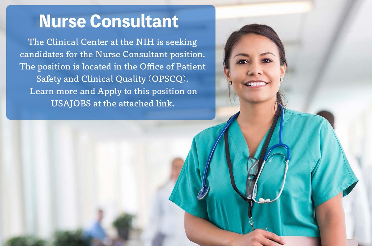 The NIH is seeking candidates for the Nurse Consultant position in the Clinical Center. Learn more and apply: https://t.co/Laf5FKyjyu